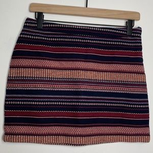 Hollister Woven Multicolor Cotton Mini Skirt Sz 3